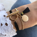 Gold-plated Naia & T-toggle bracelet set