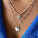925 Silver Twisted chain & beads necklace set