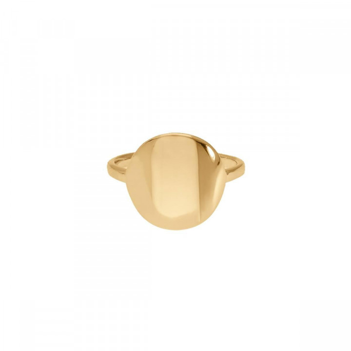 Gold-plated medal ring