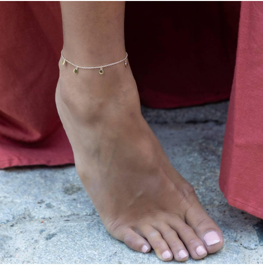 Small medals chain anklet