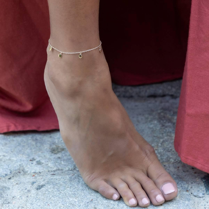 Gold-plated Small medals chain anklet