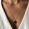 Rose gold-plated Celestial & ori necklace set