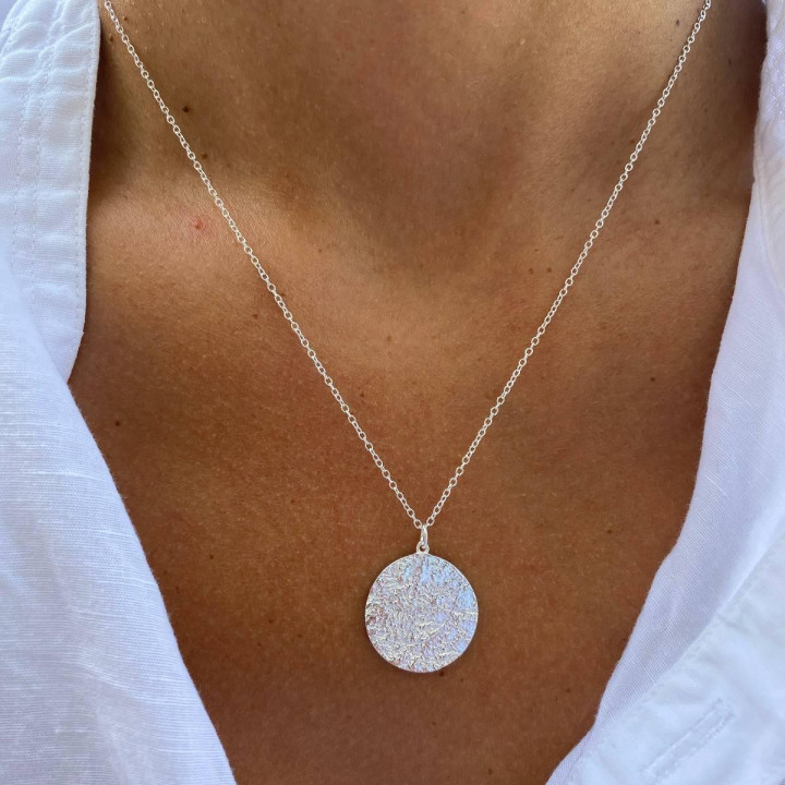925 Silver Maya medal chain necklace