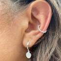 925 Silver small beads open ring earring
