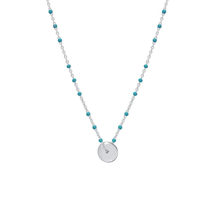 Turquoise beads necklace with target