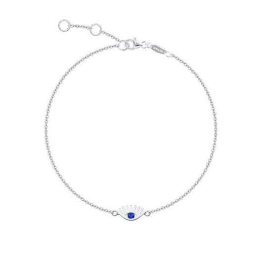 Blue eye chain bracelet