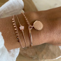 Rose gold-plated Ori chain bracelet