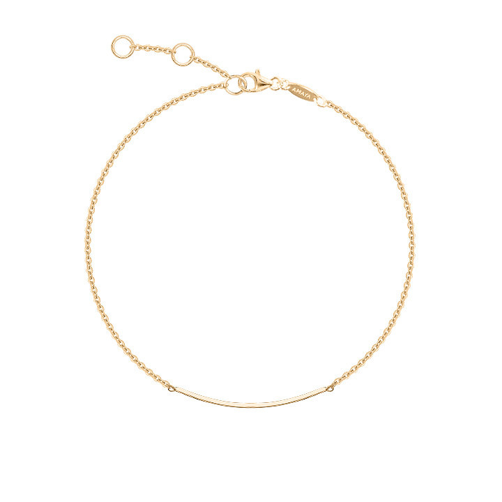 Gold-plated Centered row chain bracelet