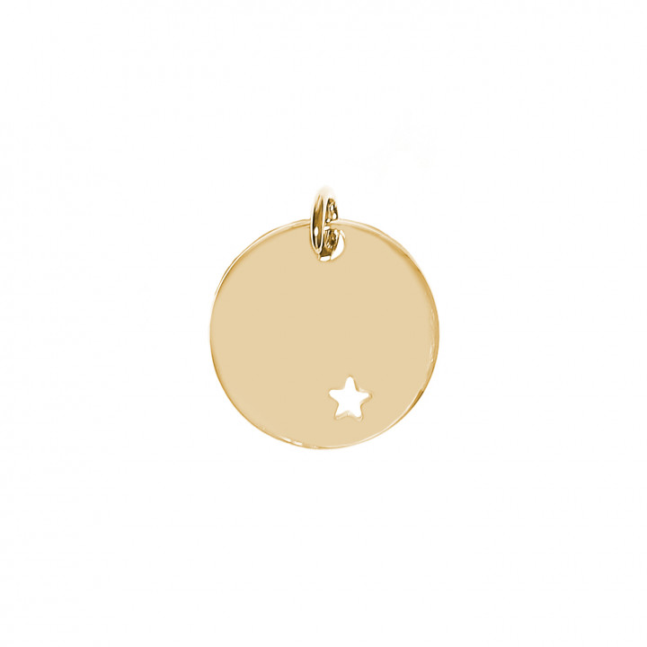 Gold-plated hollowed star medal