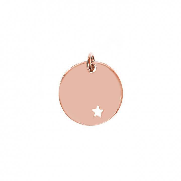 Rose gold-plated hollowed star medal