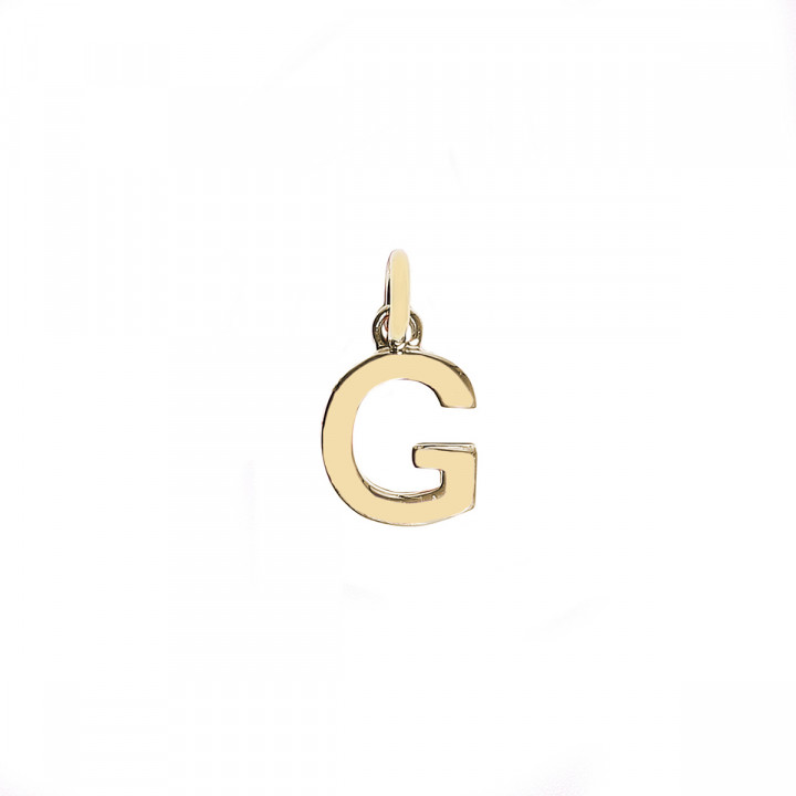 Gold-plated letter charm