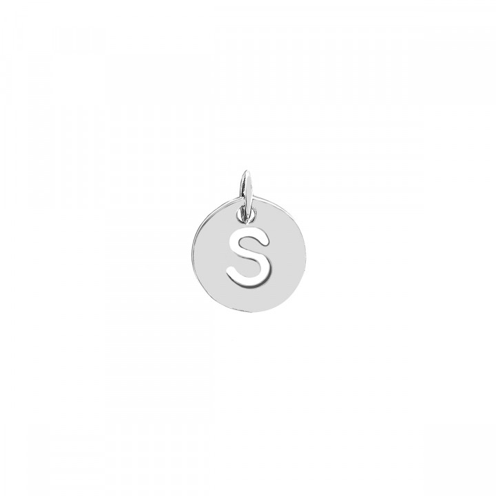 925 Silver hollowed initial medal