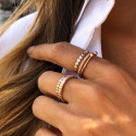 Rose gold-plated feston ring