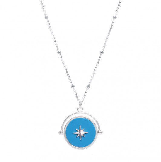 Celestial & turquoise star necklace