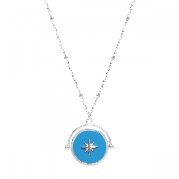 925 Silver Celestial & turquoise star necklace