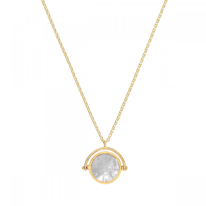 Gold-plated nacre Celestial necklace