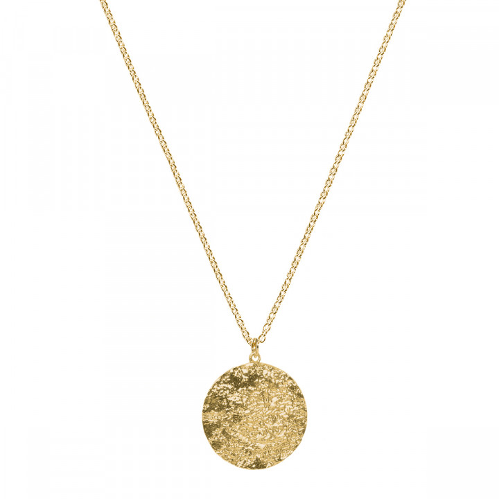 Gold-plated Maya medal chain necklace