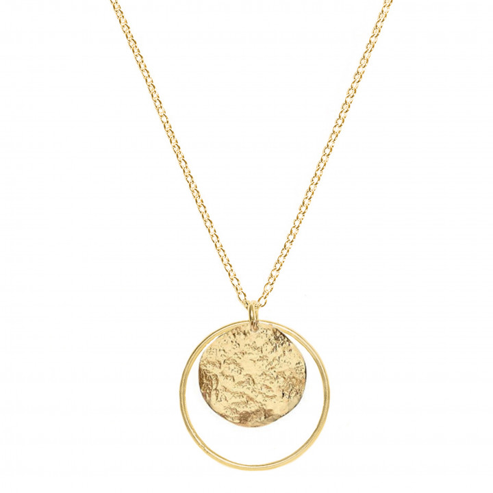 Chain necklace with ring and small Atlas medal