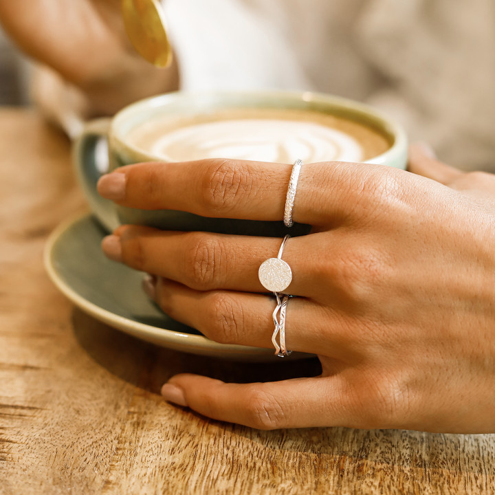 925 Silver textured ring