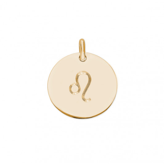 Large flat medal with zodiac sign