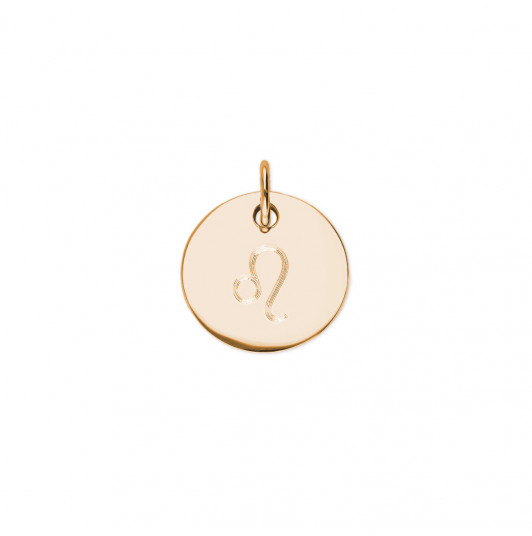 Flat medal with zodiac sign