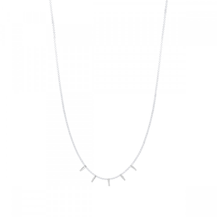 925 Silver chain necklace with 5 hanging rods