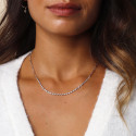 925 Silver twisted & large link chain necklace