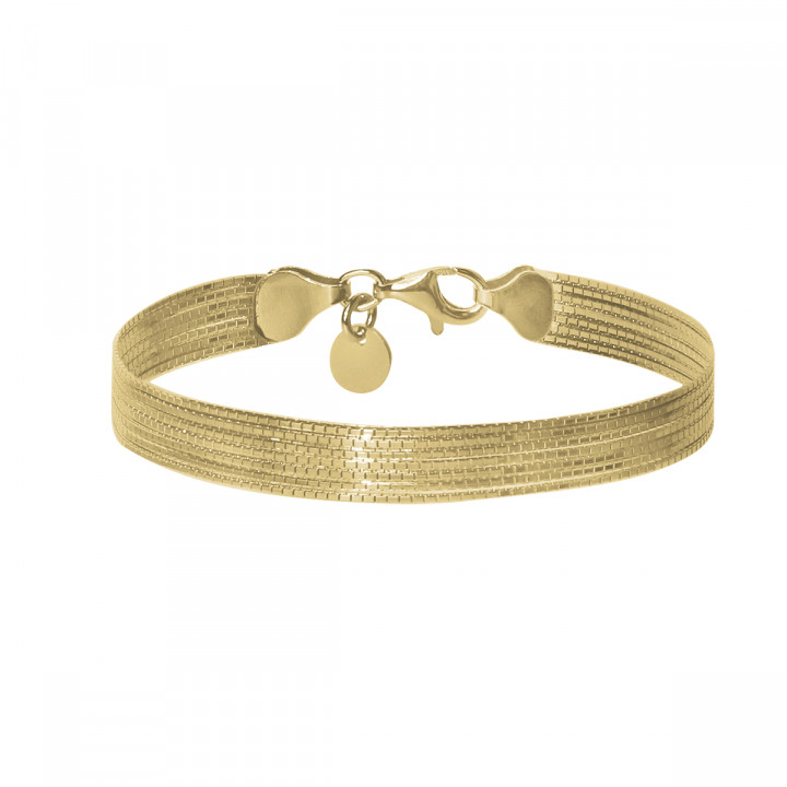 Gold-plated 7 twisted chain bracelet