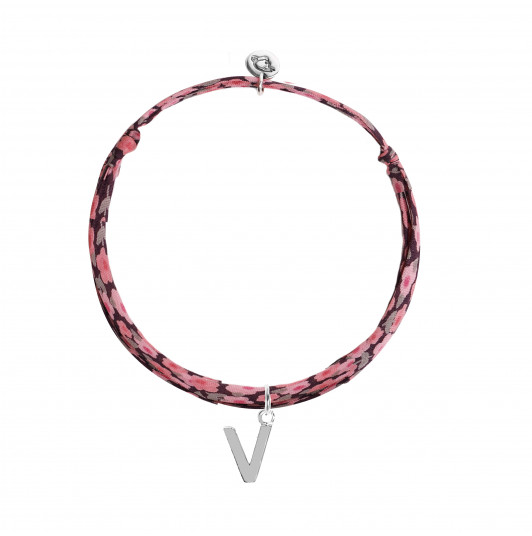 Liberty bracelet with a letter charm