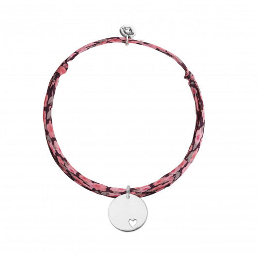Liberty bracelet with hollowed heart medal