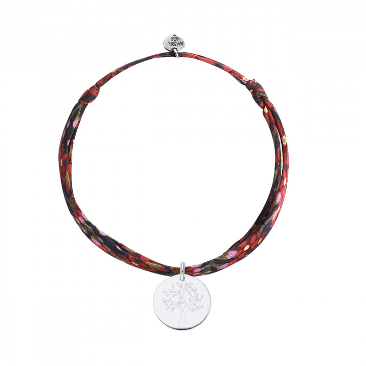 925 Silver liberty bracelet with tree of life medal