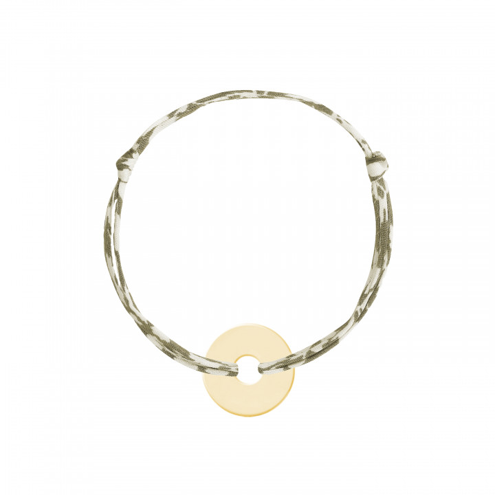 Gold-plated liberty bracelet with small target