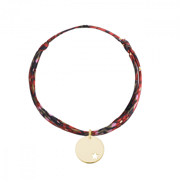 Gold-plated liberty bracelet with hollowed star medal
