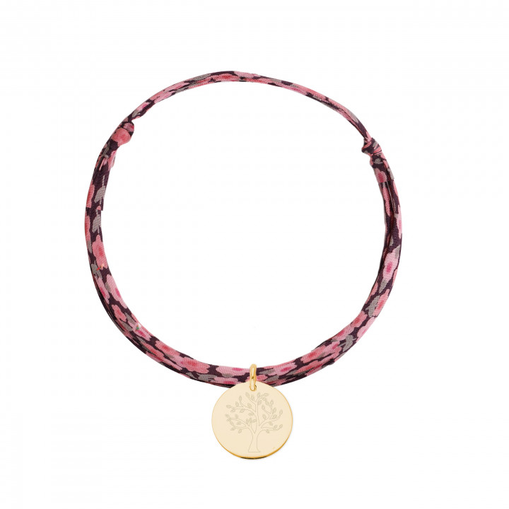 Gold-plated liberty bracelet with tree of life medal