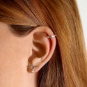 925 Silver T toggle stud earrings with pendant
