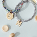 Liberty bracelet with a gold-plated letter charm for children