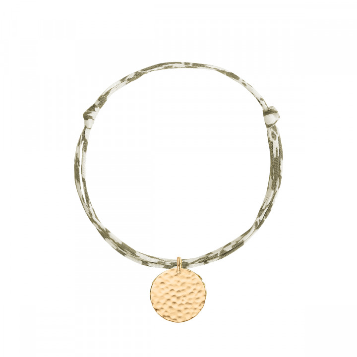Gold-plated liberty bracelet with hammered medal