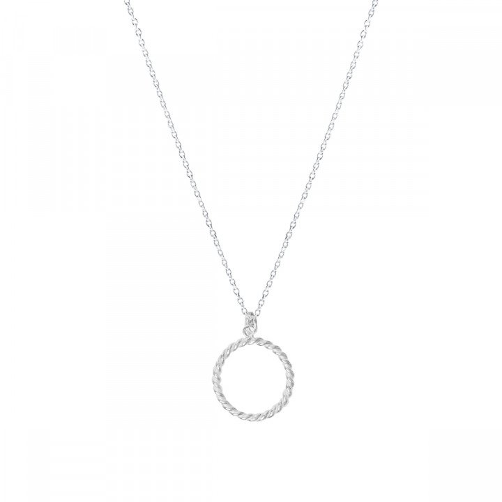 925 Silver twisted ring chain necklace