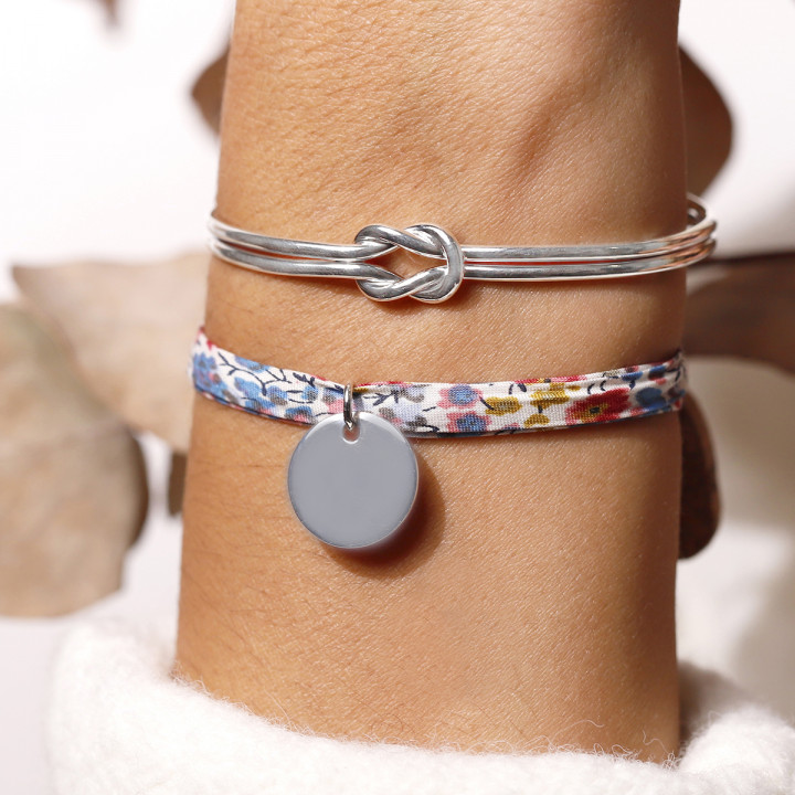 925 Silver liberty bracelet with medal