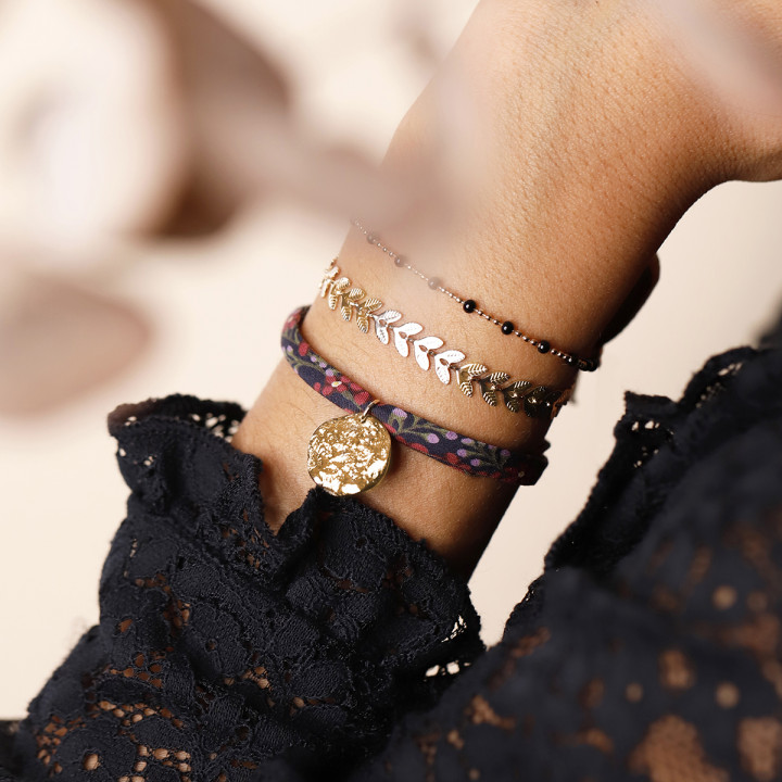 Liberty bracelet with gold-plated small Atlas medal