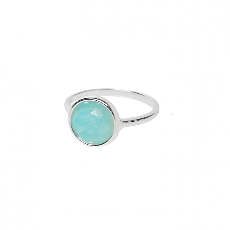 925 Silver Amazonite ring