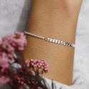 925 Silver curb chain and zircon chain bracelet