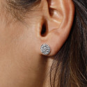 925 silver Small textured stud earrings