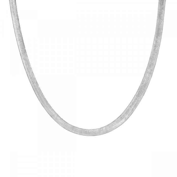 925 Silver snake mesh necklace