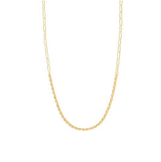 Twisted & large link chain necklace