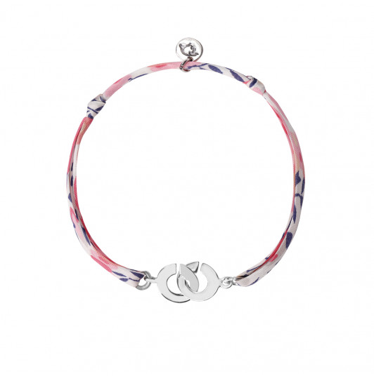 Liberty bracelet with small handcuffs