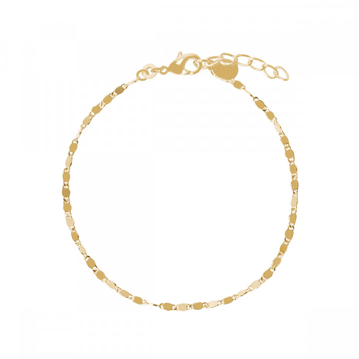 Gold-plated Faceted chain bracelet