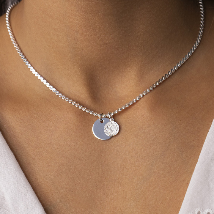 925 Silver Egyptian necklace with medal & mini Maya