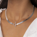 925 Silver snake mesh necklace with t toggle