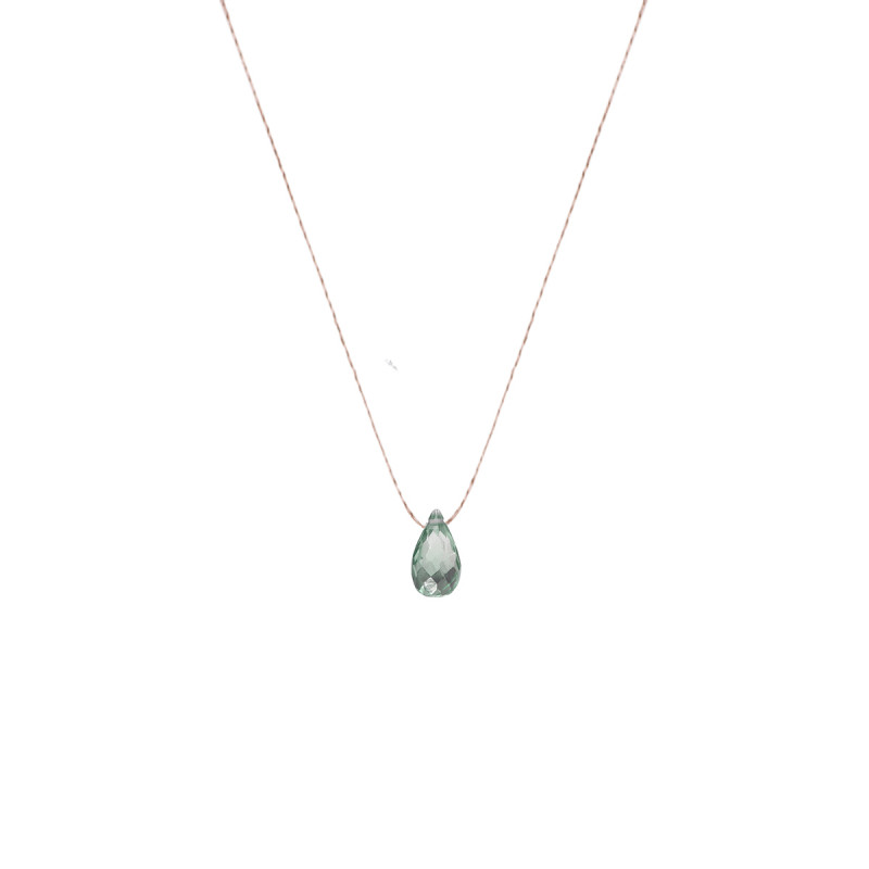Corundum drop necklace